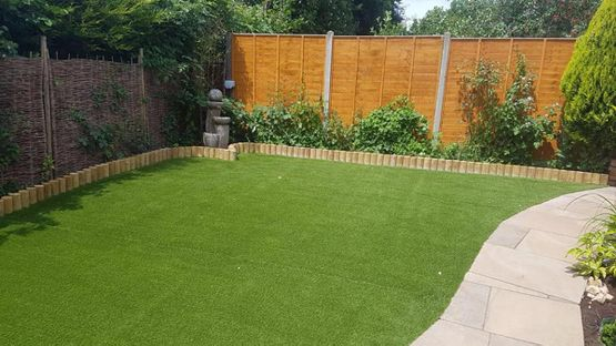 landscaping work completed by our team