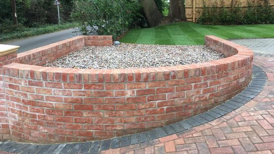A garden wall built by our team