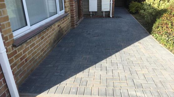 A driveway that has been laid by our team