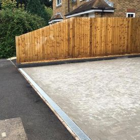 A fence that has been installed by our professionals